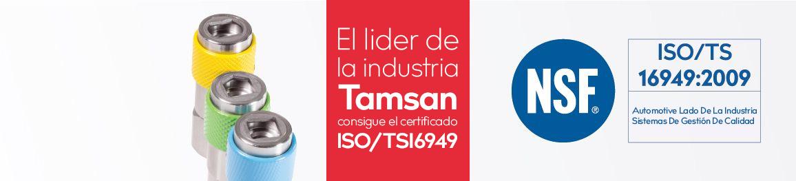 El Lider De La İndustria <altSatir />Tamsan Consigue El <altSatir />Certificado ISO/TS16949  <altSatir />