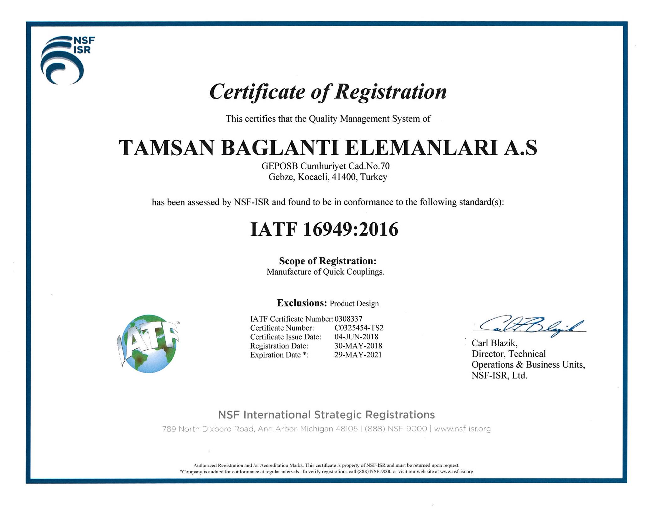 ISO/TS 16949:2009 <br>Sistema de Gestión de calidad automotriz